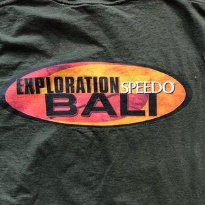 Speedo Shirts - Vintage 1997 Speedo Exploration Bali T-shirt